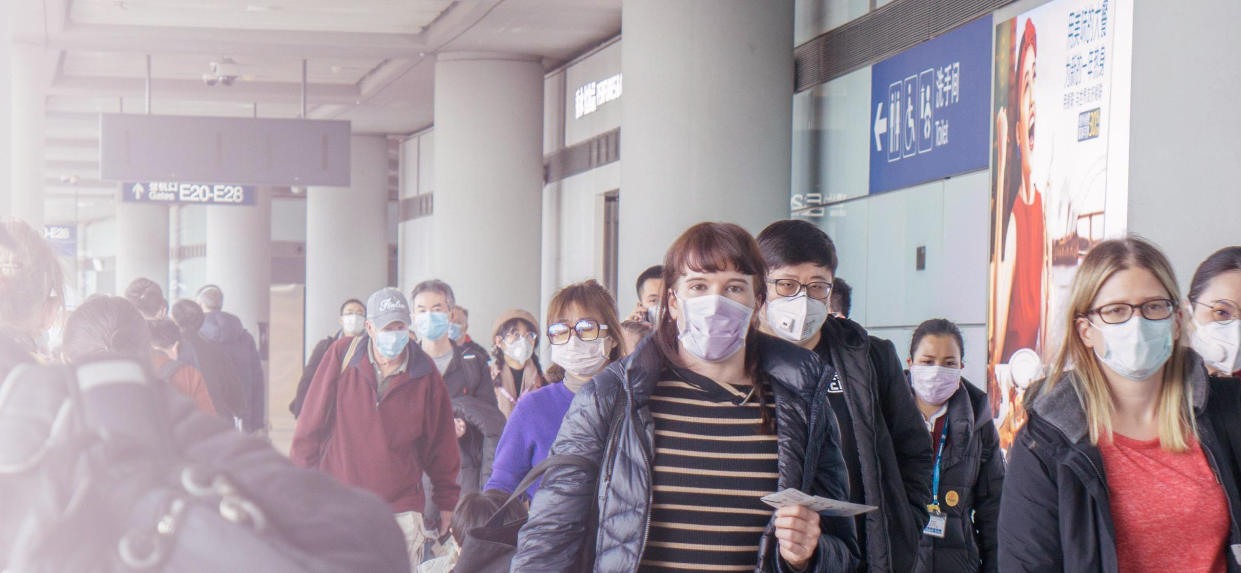 People in surgical masks